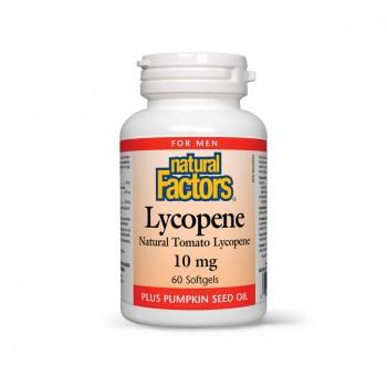 Lycopene (Licopina) Forte cu ulei din seminte de dovleac 10 mg (60 capsule), Natural Factors