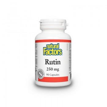 Rutin cu Vitamina C 250 mg (90 capsule), Natural Factors