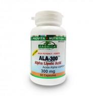ALA-300 Acid Alfa Lipoic Standardizat Forte 300 mg (60 capsule), Provita Nutrition