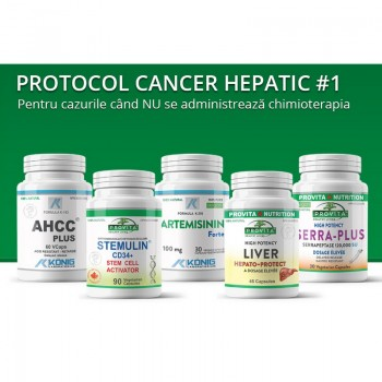 Protocol cancer hepatic (de ficat) 1, Provita Nutrition