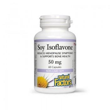 Izoflavone din soia 50 mg (60 capsule), Natural Factors