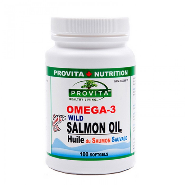 Omega-3 Ulei de somon salbatic de Pacific 1000 mg (100 capsule), Provita Nutrition