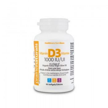 Vitamina D3 Forte 1000 UI (90 capsule), Prairie Naturals