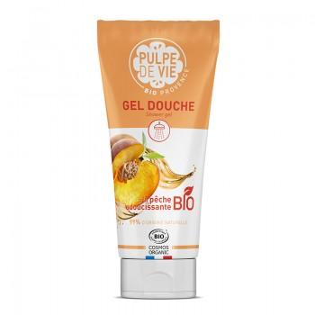 Gel de dus perlat cu piersica bio si efect de catifelare - Peach Please (200 ml), Pulpe de Vie