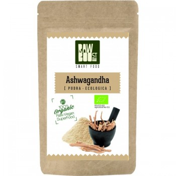 Ashwagandha pudra ecologica (125 gr), RawBoost