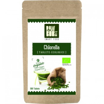 Chlorella tablete ecologice 125 gr ( 250 tablete), RawBoost
