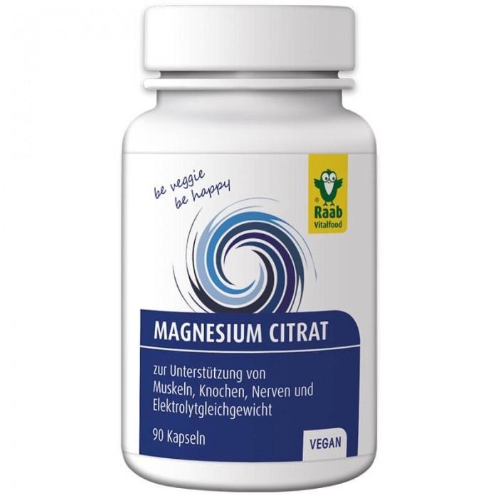 Citrat de magneziu 600 mg (90 capsule vegane), Raab Vitalfood