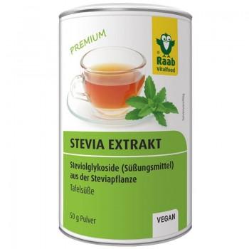 Stevia pulbere extract solubil premium (50 grame), Raab Vitalfood