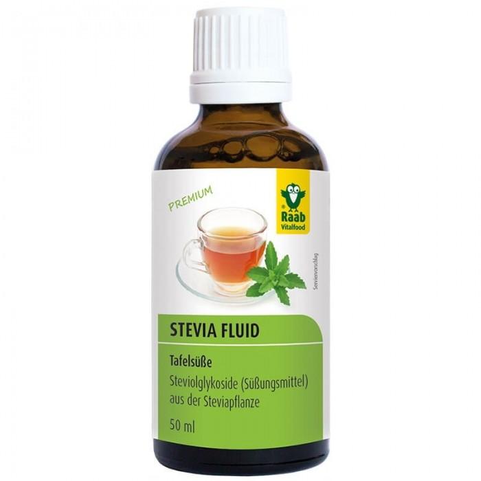 Stevia indulcitor lichid premium (50 ml), Raab Vitalfood