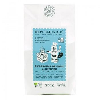 Bicarbonat de sodiu alimentar fara gluten (250 grame), Republica Bio