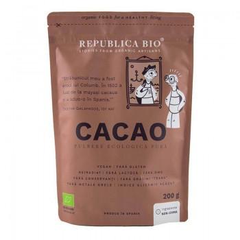 Cacao pulbere ecologica pura (200 grame), Republica Bio
