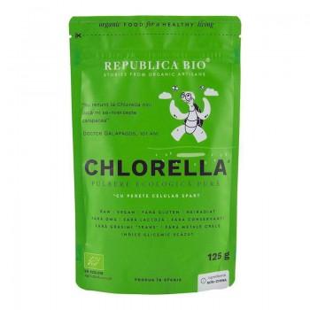Chlorella pulbere ecologica pura (125 grame), Republica Bio