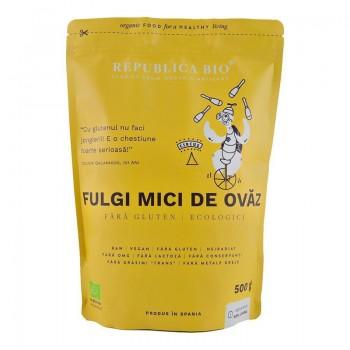 Fulgi mici de ovaz fara gluten ecologici (500 grame), Republica Bio