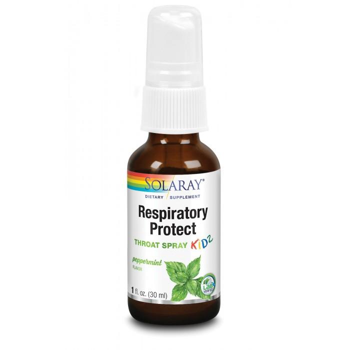 Respiratory Protect Throat Spray KIDZ (30 ml), Solaray