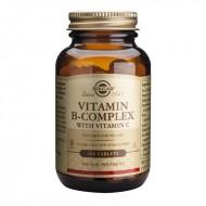 B-Complex plus Vitamina C (100 tablete), Solgar