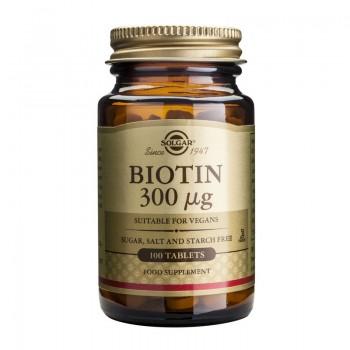 Biotin 300mcg (100 tablete), Solgar