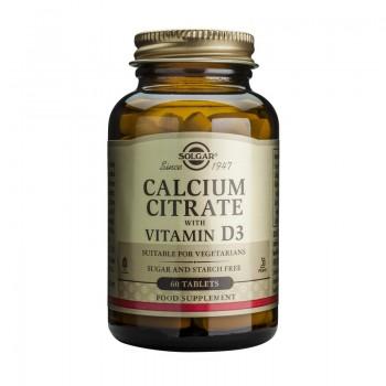 Calcium Citrate 250mg cu D3 (60 tablete), Solgar