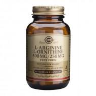 L-Arginine L-Ornithine 500/250mg (50 capsule), Solgar