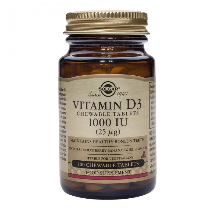 Vitamin D-3 1000 IU chewable (100 tablete)
