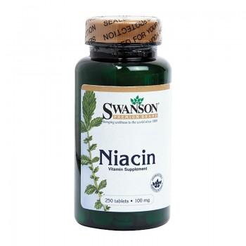 Vitamina B3 Niacina 100 mg (250 comprimate), Swanson