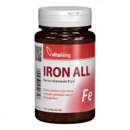 Fier cu Vitamina B si C (100 comprimate), Vitaking