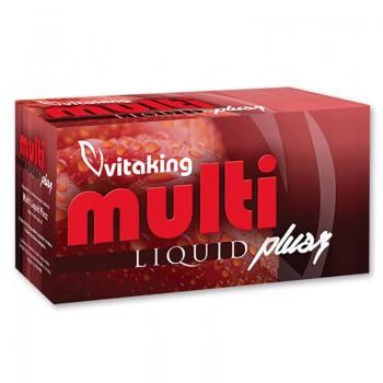 Multivitamina lichida cu minerale, ginseng si luteina (30 capsule), Vitaking