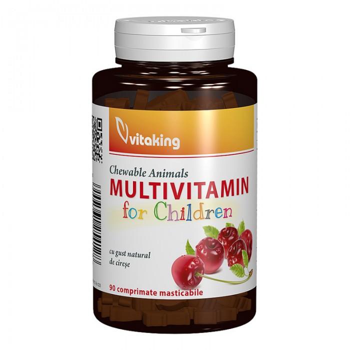 Multivitamina cu minerale pentru copii (90 comprimate), Vitaking