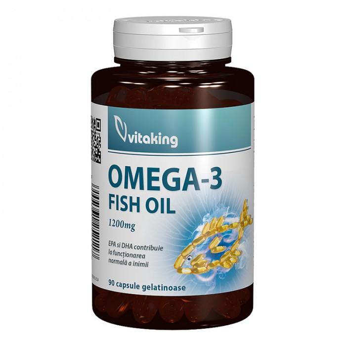Omega-3 1200 mg Ulei de peste (90 capsule), Vitaking