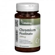 Picolinat de crom 200 mcg (100 comprimate), Vitaking