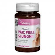 Supliment natural pentru par, piele si unghii (30 comprimate), Vitaking