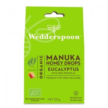 Bomboane (Dropsuri) ecologice cu miere de Manuka, eucalipt si propolis (120 grame), Wedderspoon