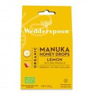 Bomboane (Dropsuri) ecologice cu miere de Manuka, lamaie si propolis (120 grame), Wedderspoon