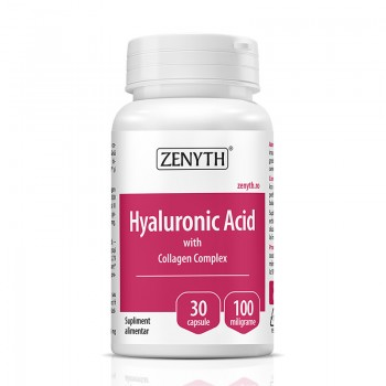 Acid Hyaluronic cu Collagen Complex 700 mg (30 capsule), Zenyth Pharmaceuticals