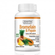Bromelain si Papain (60 capsule), Zenyth Pharmaceuticals