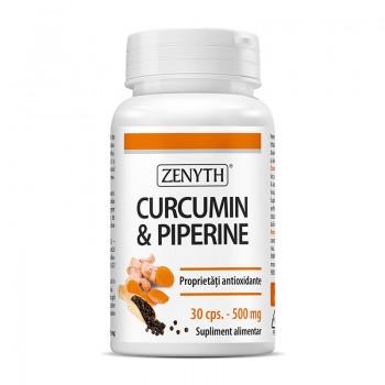 Curcumin si Piperine 500 mg (30 capsule), Zenyth Pharmaceuticals