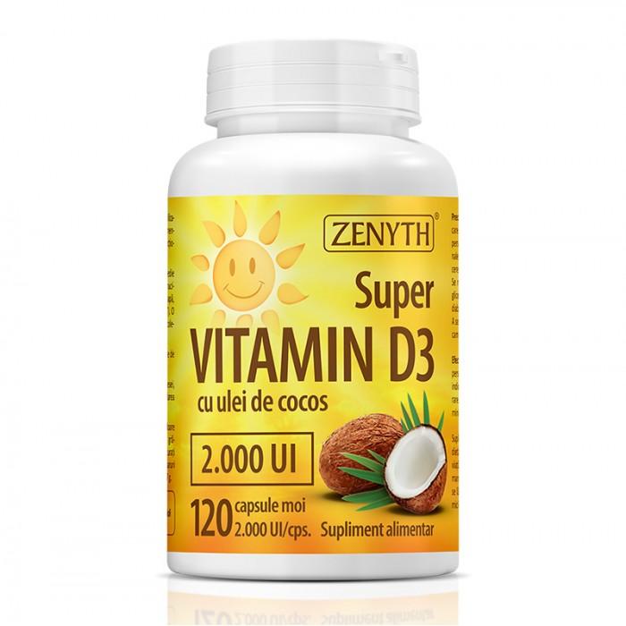 Super Vitamin D3 2000 UI (120 capsule), Zenyth Pharmaceuticals
