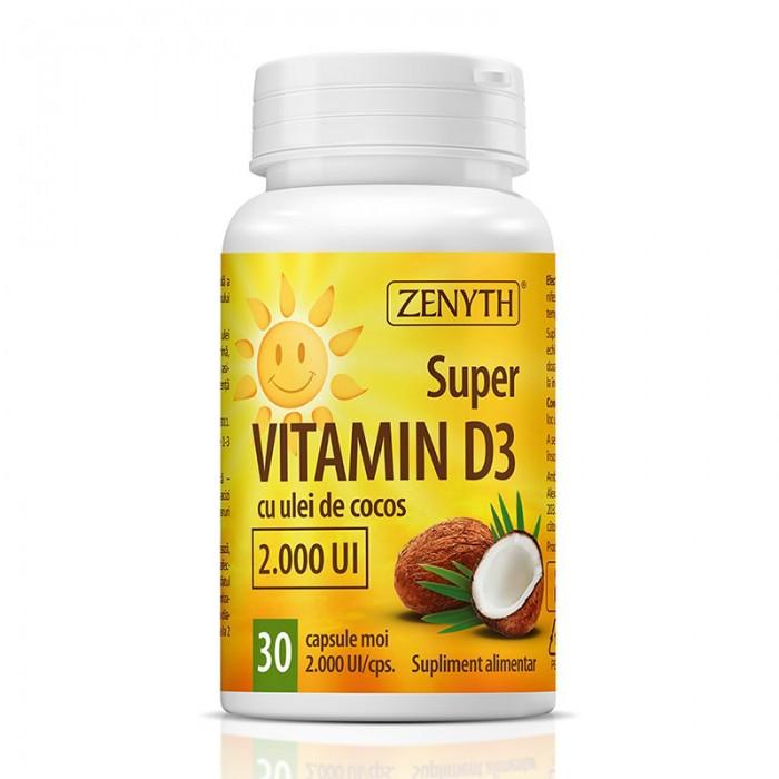 Super Vitamin D3 2000 UI (30 capsule), Zenyth Pharmaceuticals