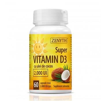 Super Vitamin D3 2000 UI (60 capsule), Zenyth Pharmaceuticals