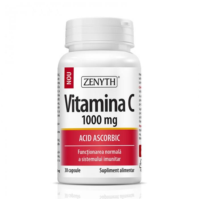 Vitamina C 1000 mg (30 capsule), Zenyth Pharmaceuticals