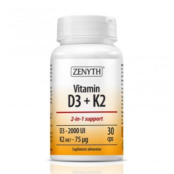 Vitamina D3 + K2 (30 capsule), Zenyth Pharmaceuticals