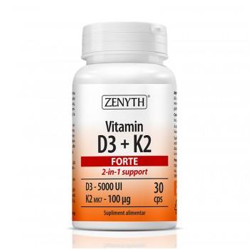 Vitamina D3 + K2 Forte (30 capsule), Zenyth Pharmaceuticals