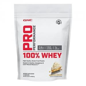 100% Proteina din zer cu aroma de banane (405.6 grame), GNC PRO PERFORMANCE