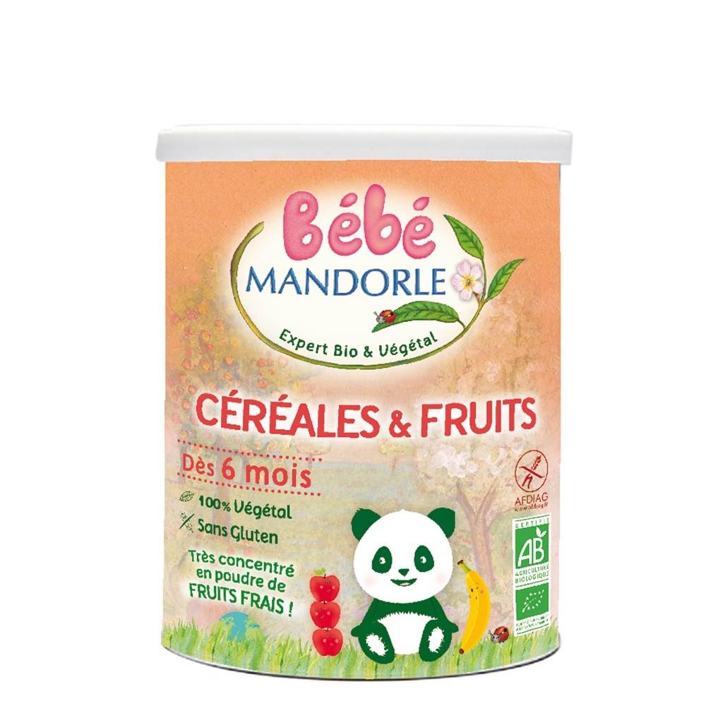 Cereale + fructe pentru bebelusi - de la 6 luni (400g), Bebe Mandorle