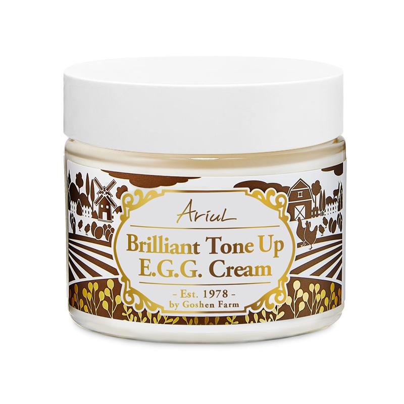 Crema de fata Antirid si Hidratare Intensa Brilliant Tone Up EGG (70 ml), Ariul