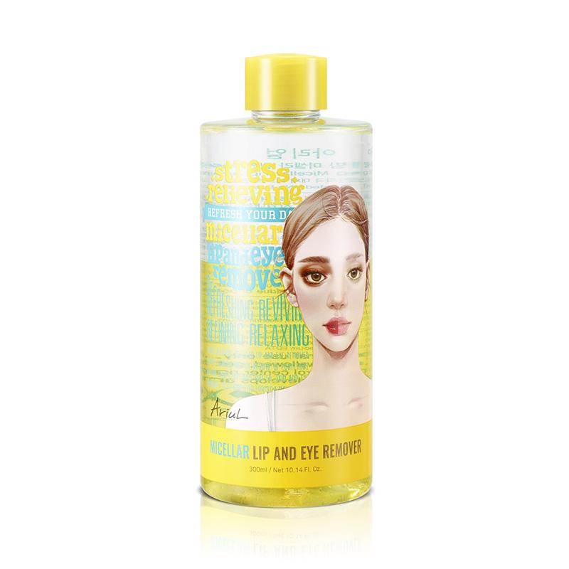 Demachiant hipoalergenic pentru buze si ochi Stress Relieving Lip and Eye Remover (300 ml), Ariul