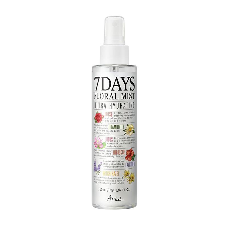 Spray de fata 7Days Floral Mist - calmarea si echilibrarea tenului (150 ml), Ariul