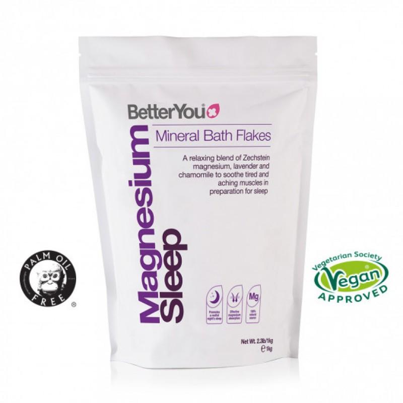 Fulgi de baie cu magneziu pentru somn odihnitor (1000 grame), Betteryou