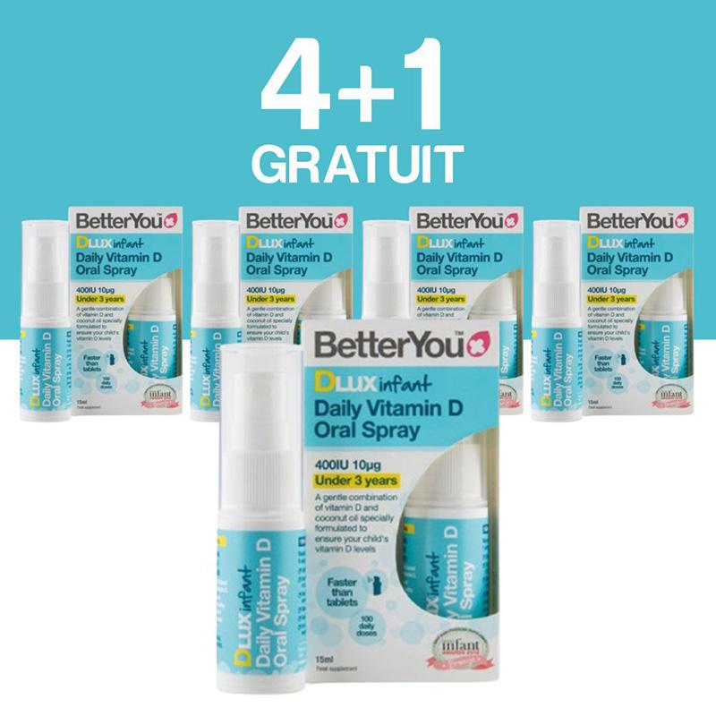 DLux infant Vitamin D Oral Spray (15ml), BetterYou 4+1 Gratuit