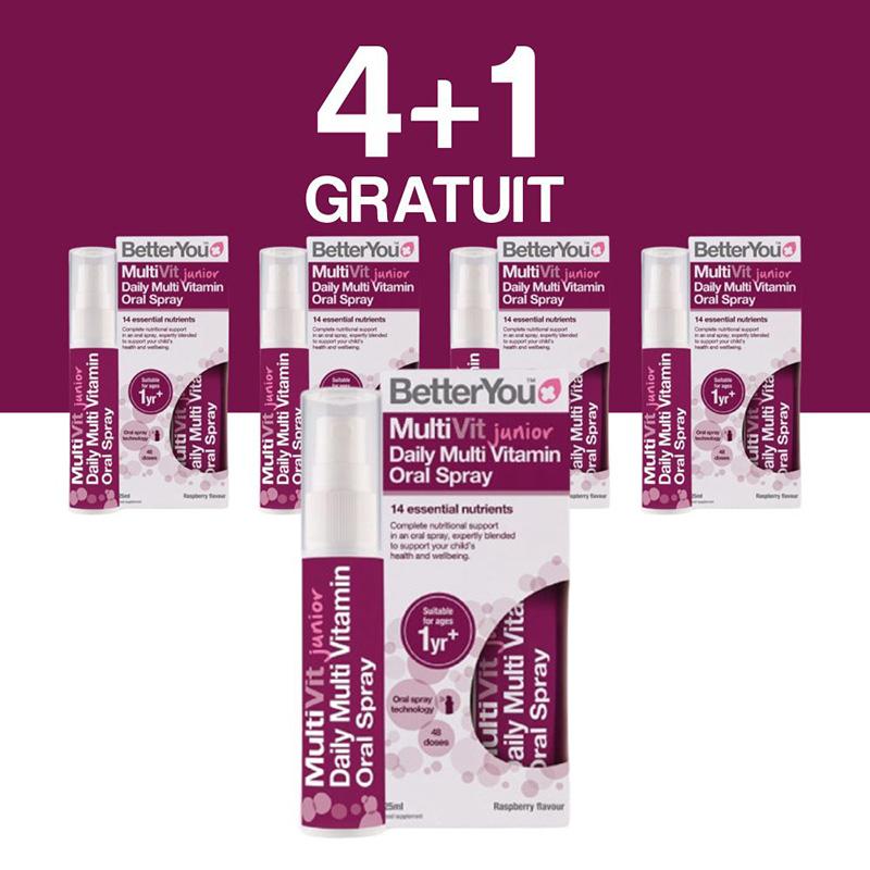 Multivit Junior Oral Spray (25ml), BetterYou 4+1 Gratuit