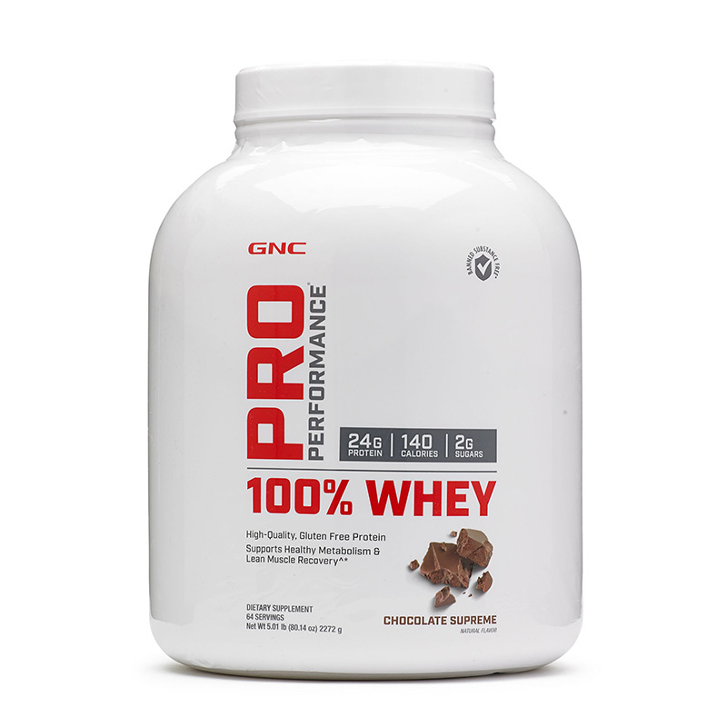 100% Whey Proteina din zer cu aroma de ciocolata (2272 grame), GNC Pro Performance